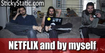 netflix alone at home
