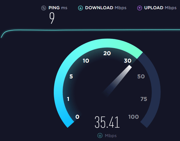 bad modem speed test