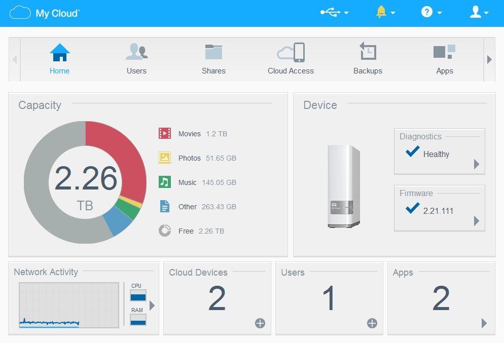 western digital my cloud software gui